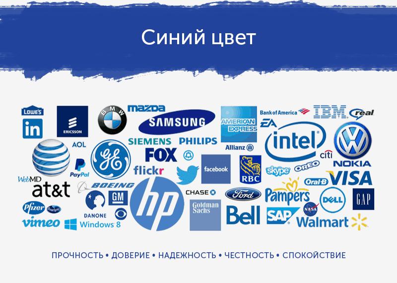 логотипы синего цвета