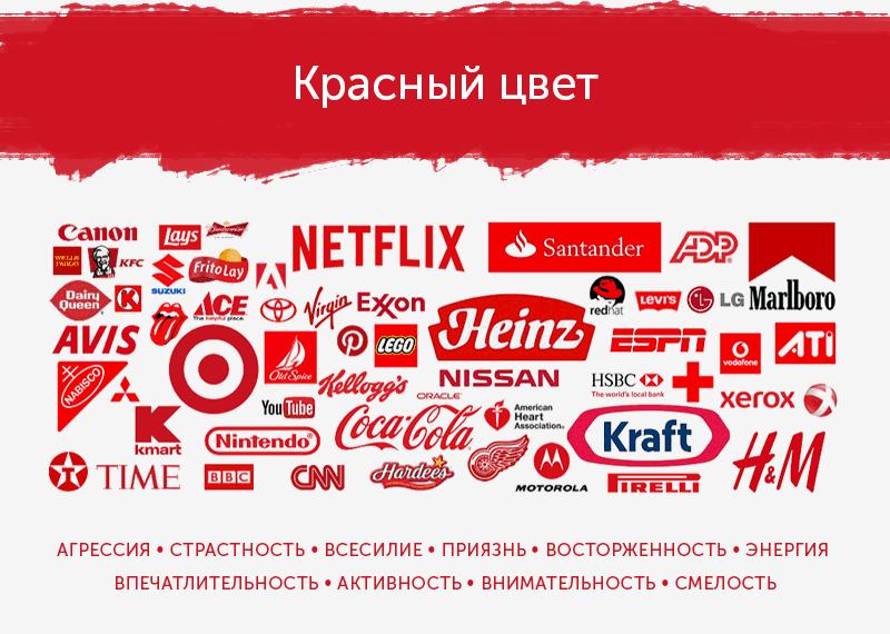 логотипы красного цвета