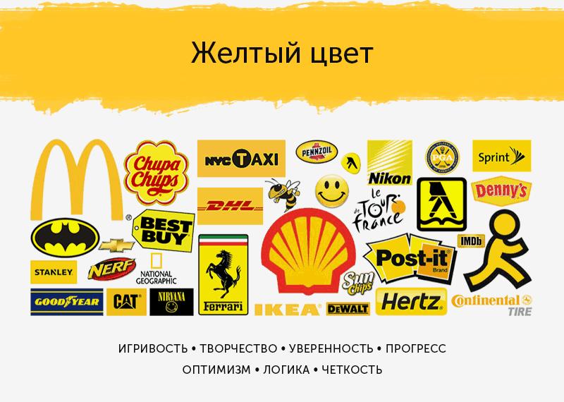 логотипы желтого цвета