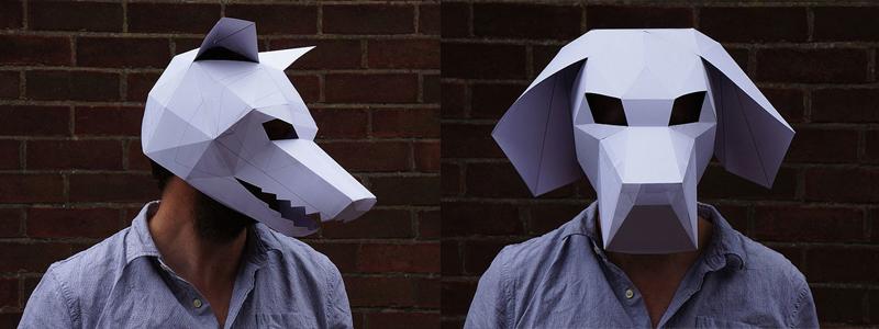 объемные маски животных