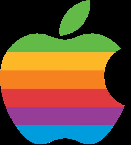 вторая версия логотипа apple