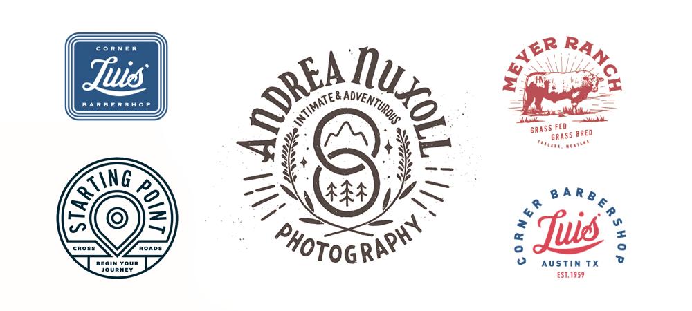 логотипы в виде печати