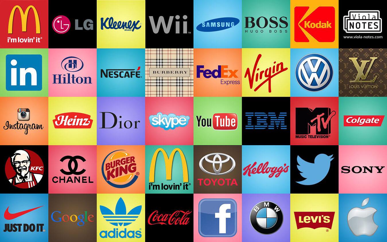 Известные модерн логотипы успешных компаний