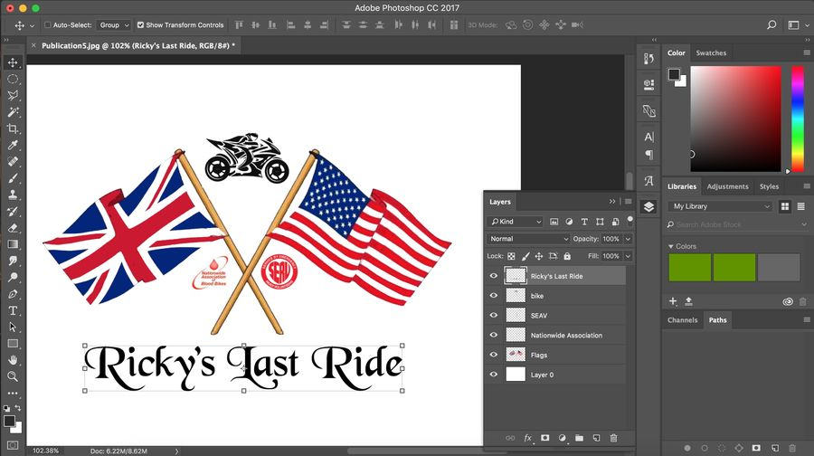 Создание логотипа в фотошоп