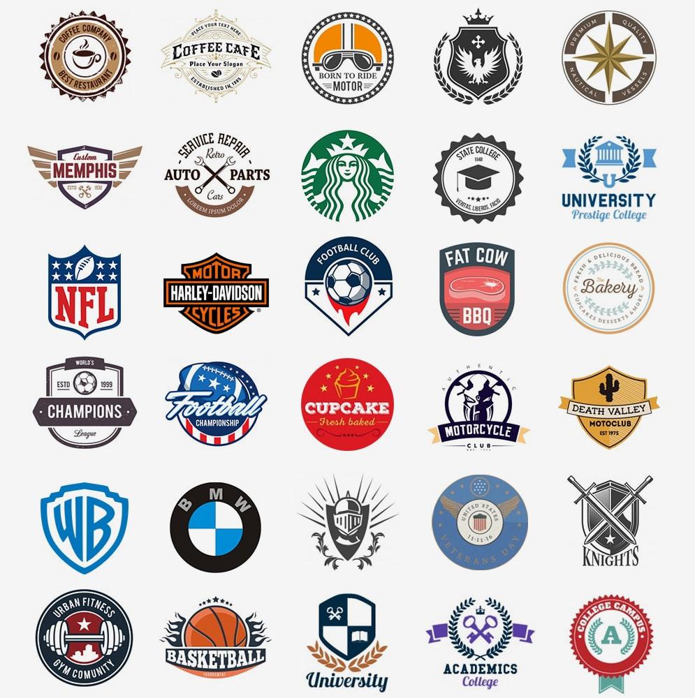 Примеры красивых эмблем