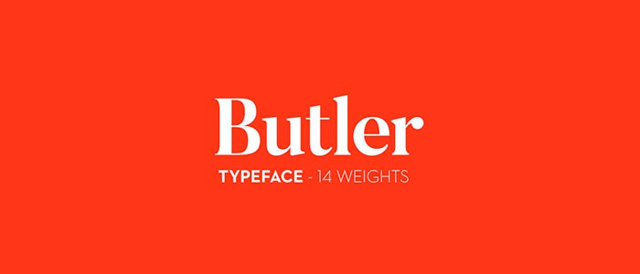 butler бесплатный шрифт