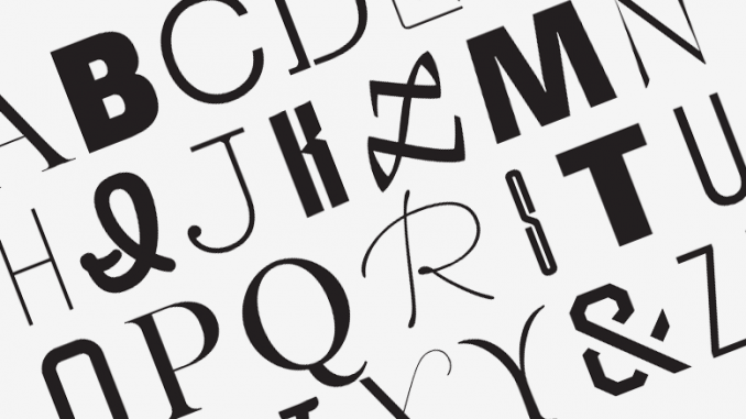 Используйте один стиль шрифта