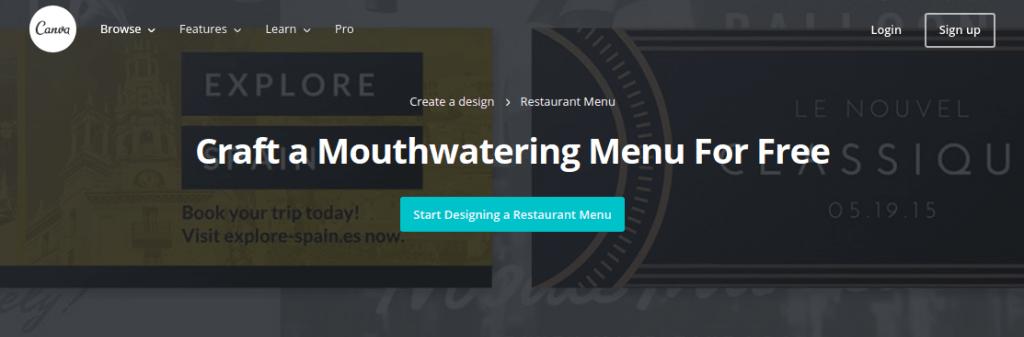 Как создать меню для ресторана и кафе