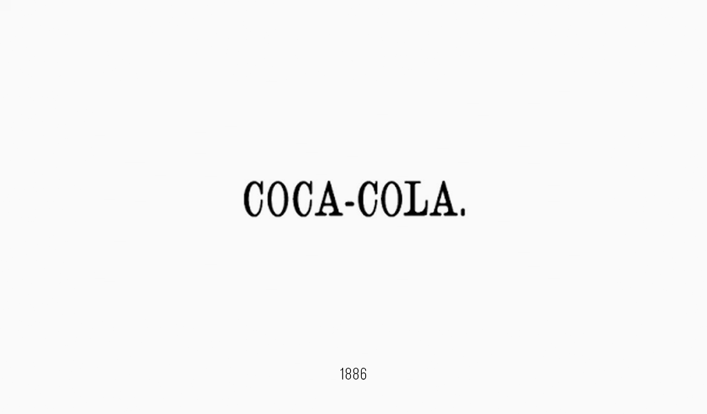 Логотип Кока-Кола, 1886