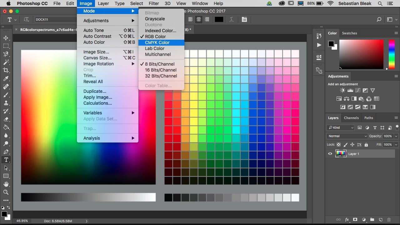 Управление цветом в Photoshop