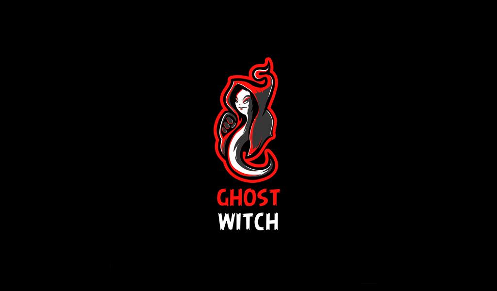 Игровой логотип ведьма