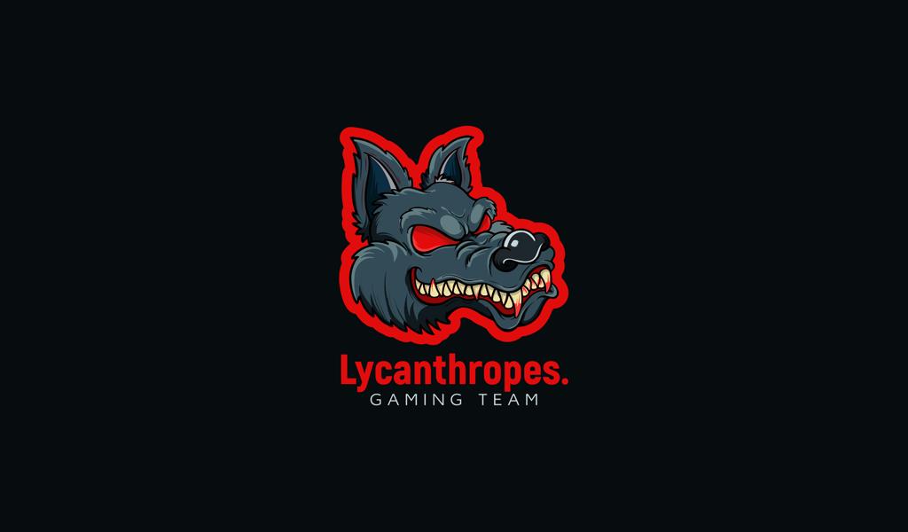 Игровой логотип волк