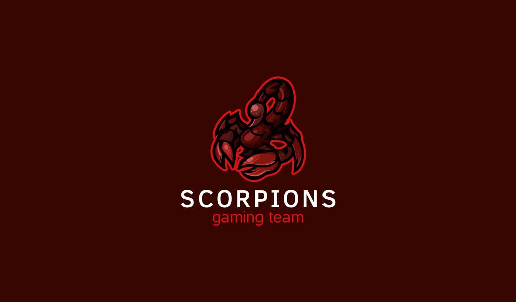 Игровой логотип скорпион