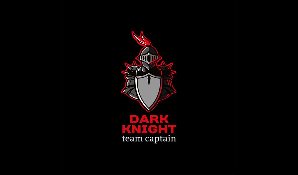 Игровой логотип черный рыцарь