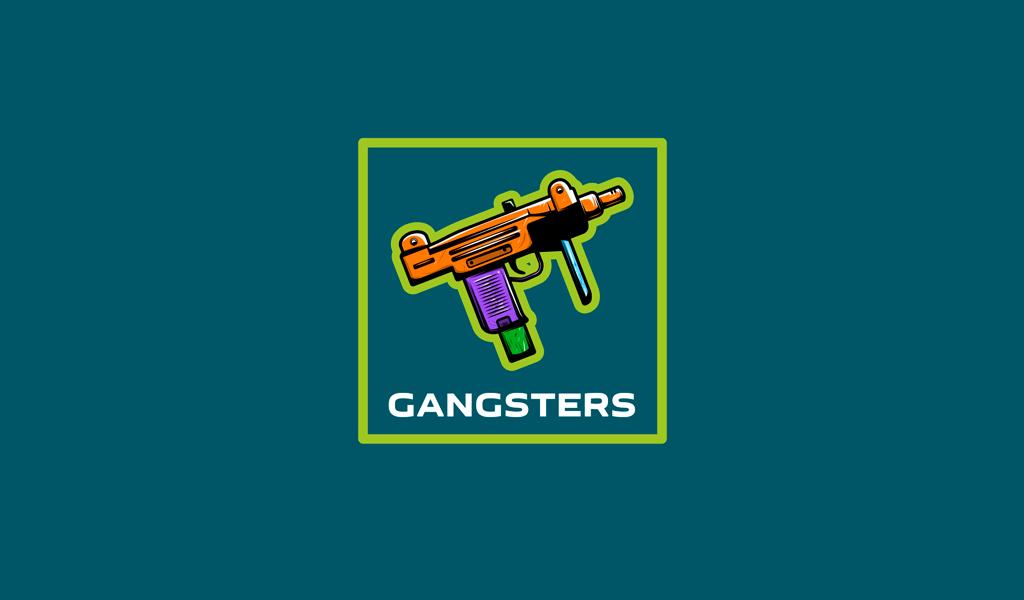 Игровой логотип пистолет