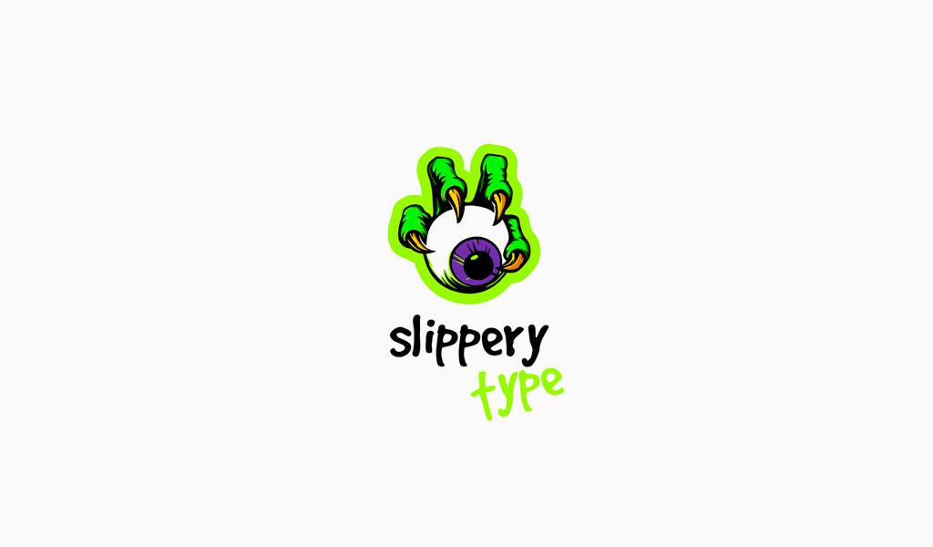 Игровой логотип глаз монстр