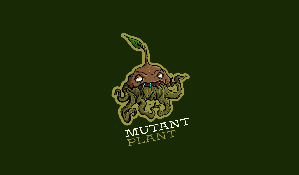 Игровой логотип монстр растение