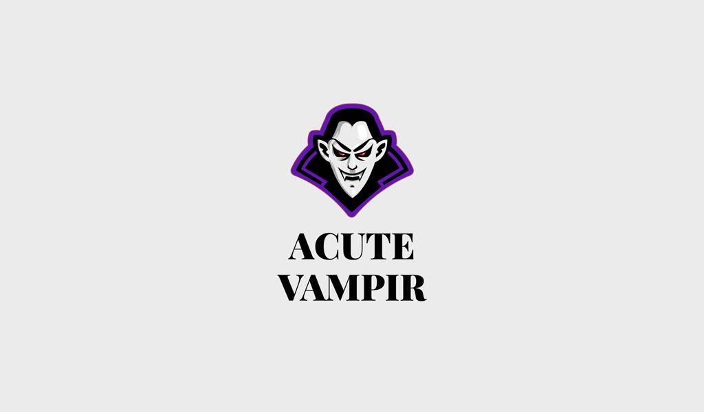 Игровой логотип вампир